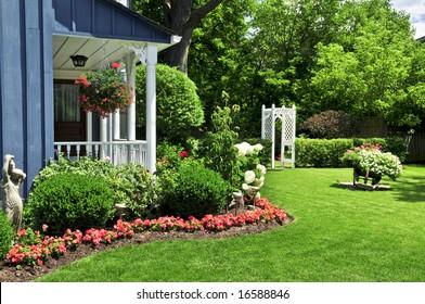 House Garden Flower Images, Stock Photos \u0026 Vectors