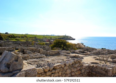 Landscapes and ancient architecture of the Crimea