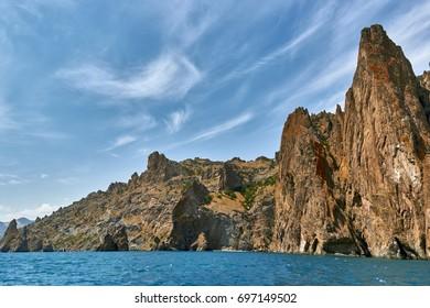Landscapes of the Crimea Peninsula, Russia.