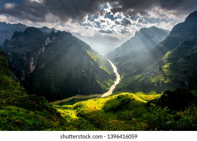 Landscapes in Ha Giang province, Nho Que river. Viet Nam.