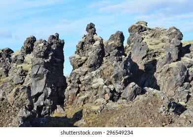 Landscapes of Iceland, lava formation
