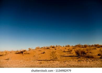 Landscapes of Kyzylkum desert. Middle Asia (Uzbekistan)