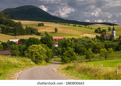 Landscapes of the Low Beskids in Poland  - Shutterstock ID 1883830663
