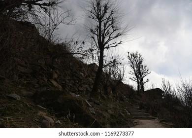 landscapes of malana and kasol , himachal pradesh , India
