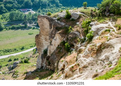 Landscapes of the mountainous Crimea .View from the cave city of Kachi Kalion near Bakhchisaray