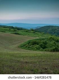 Landscapes near the town of Pozega, Pozega-Slavonia county, Croatia.