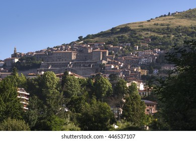 landscapes of Palestrina , ancient town near Rome