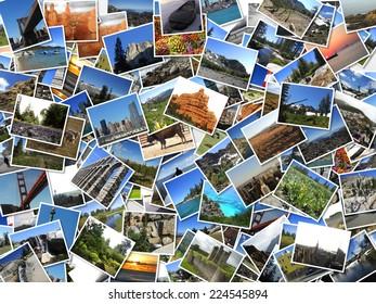 landscapes photos collection. postcards