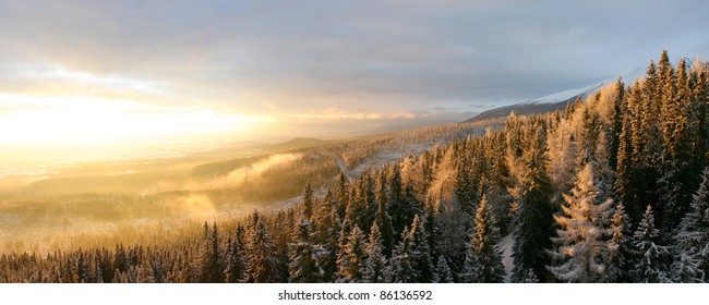 Landscapes and snow, Slovakia.
