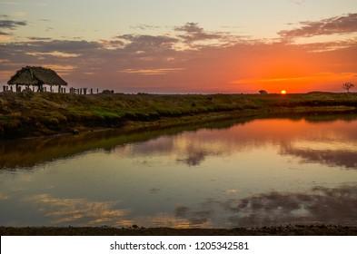 paisajes de amaneceres y puestas de sol en casanare colombia