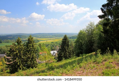 landscapes in the teutoburg forest near detmold