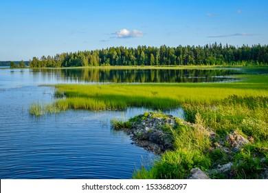 Landscapes of Valdai nature, Novgorod region of Russia