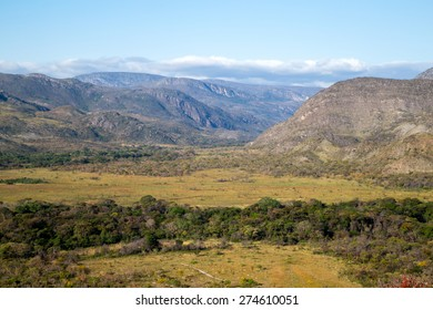 Landscapes and view of Serra do Cipo mountains in Minas Gerais, Brazil