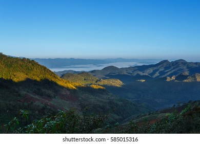 Landscapes, views of Doi Ang Khang, Ang Khang mountain, Chiang mai, Thailand.