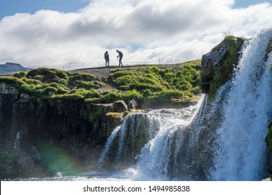 landscapes and waterfalls. Kirkjufell mountain,Iceland.Travel vacation and summer time concept.