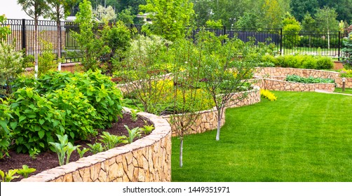 Beautiful Residential Landscaping Images Stock Photos Vectors