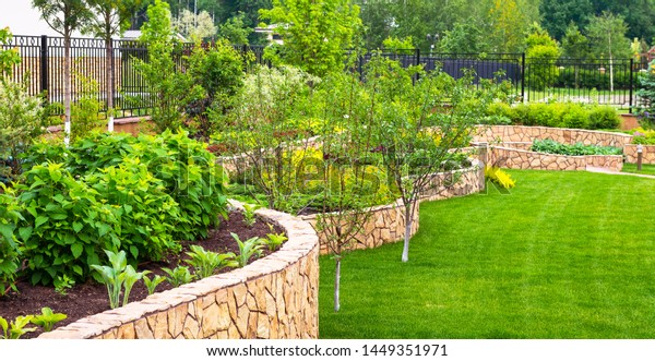 Landscaping Home Garden Beautiful Natural Landscape Stock Photo Edit Now 1449351971