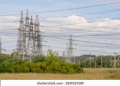 Landscaping technogenic, high-voltage power lines. The natural complex here has undergone an intensive technogenic impact during the entire period of the existence of the plants