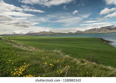 A Landscpae on Trollaskagi Peninsula, Iceland