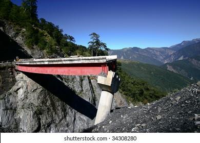 landslide Broken the bridge