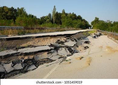 landslide national road of Bulgaria