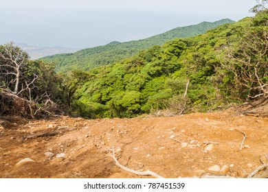 Landslide on Maderas volcano on Ometepe island, Nicaragua