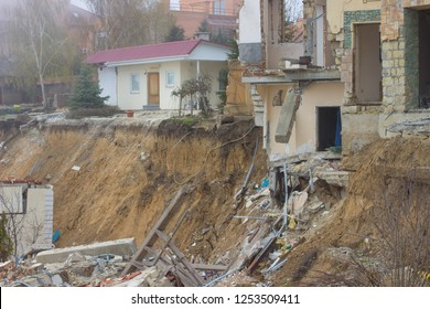 Landslide in a small town