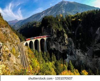 Landwasser Viaduct Filisur Graubunden Switzerland