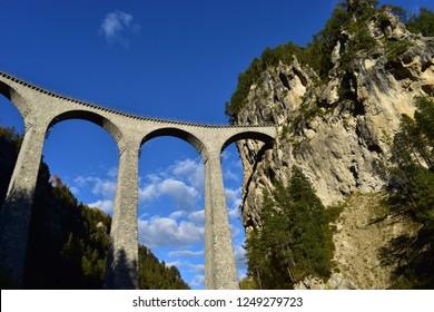 Landwasser viaduct in Switzerland near Davos