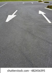 lane arrows on tarmac