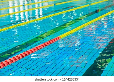 lane isolation line in a swimming pool