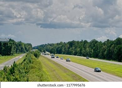 Lane reversal in South Carolina on Interstate 26 in preparation for Hurricane Florence