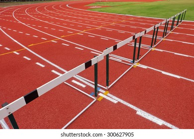 lanes of the Obstacle Race on track  during athlete racing