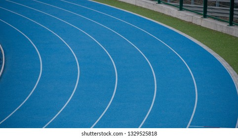 lanes on the track of athletics