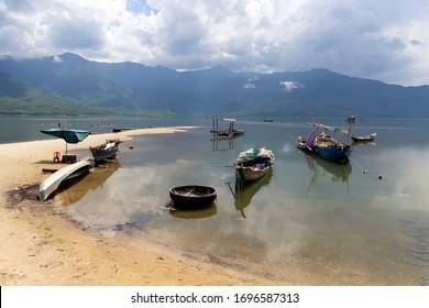 Lang Co, Thua Thien-Hue Province, Vietnam, Asia. July 19 2019: Lang Co lagoon, Lang Co, Vietnam.