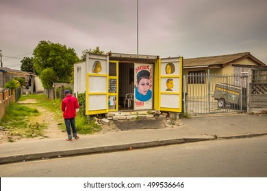 LANGA TOWNSHIP, SOUTH AFRICA - JANUARY 28, 2014 - A walking tour, in the Township of Langa and private homes - Cape Town