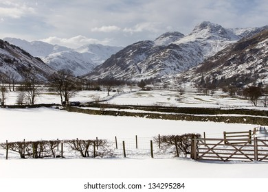 The Langdales in the Winter, The Lake District