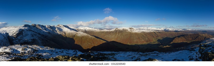 Langdales in Winter Mountains Cumbria