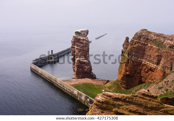 Lange Anna, Helgoland Lange Anna, red sandstone rock formation on the island Helgoland, Schleswig-Holstein, Germany