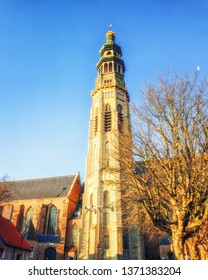 Lange Jan tower of the abbey in Middelburg, capital of Zeeland province, the Netherlands