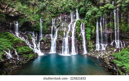 Langevin waterfalls.