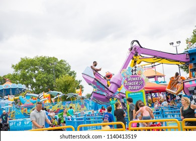 Langhorne, PA July 21, 2018: Sesame Place is a children's theme park, located on the outskirts of Philadelphia, Pennsylvania based on the Sesame Street television program.