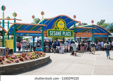 Langhorne, PA - May 26, 2018: Sesame Place is a children's theme park, located on the outskirts of Philadelphia, Pennsylvania based on the Sesame Street television program.