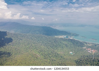 Langkawi Island from above view of mountains and sea