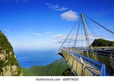 LANGKAWI ISLAND, JANUARY 17, 2017 - Sky Bridge, wellknown landmark in Malaysia, Asia
