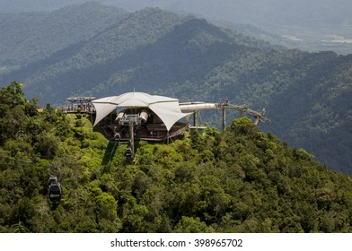 Langkawi, Kedah 27/10/2012 : Cable car station on Macincang mountain.