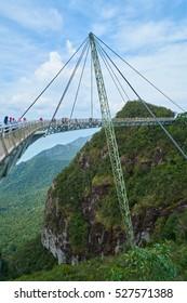 LANGKAWI, MALAYSIA - 19 November 2016:Sky Bridge on Mat Cincang mountain in Langkawi.