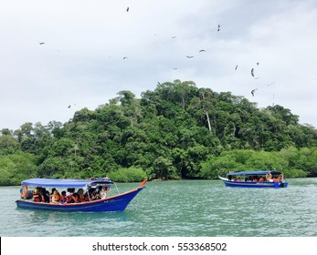 Langkawi, Malaysia - 21st July, 2016: Island hoping and Eagle Feeding is one of the main attraction in Langkawi , Malaysia