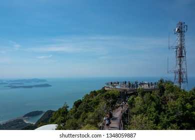Langkawi, Malaysia - February 24, 2019: View from the top of the Langkawi Sky Cab area.