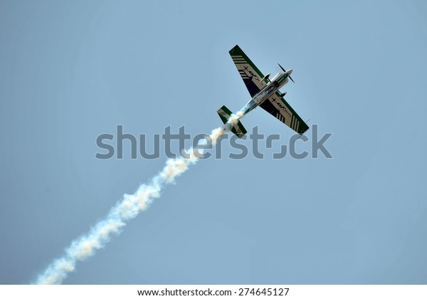 Langkawi Malaysia March 18 Malaysia Aerobatic Stock Photo